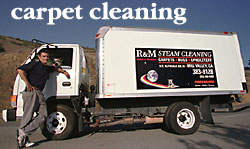 Ralph and Madeline with their state-of-the-art truck-mounted steam cleaning unit.